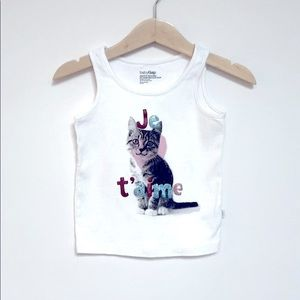 GAP Je t'aime Kitten Tank Top 18-24M